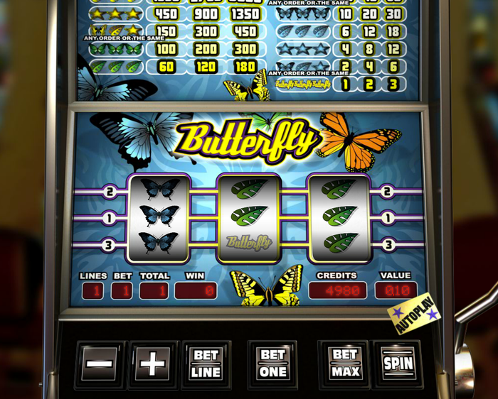 Butterfly slotmachine
